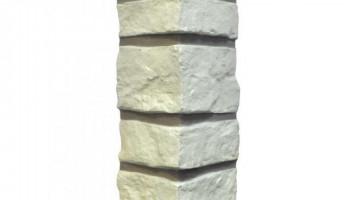 Внешний угол NAILITE Creek Ledgestone (Бутовый камень) Ivory White