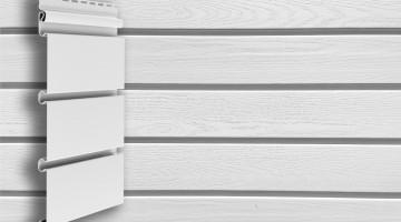 Виниловый архитектурный сайдинг Grand Line Планкен 3,0 белый